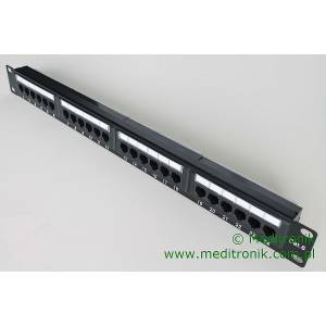Patch panel 24 porty UTP kat.6 1U 19""
