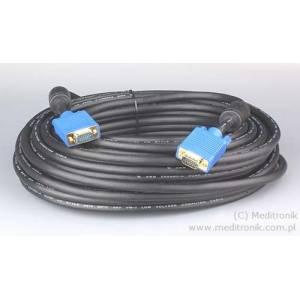 Kabel SVGA DSUB 15pin wtyk na wtyk długość 15 metrów