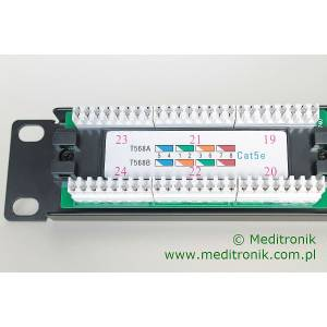 Patch panel 24 porty UTP kat.5e 1U 19""