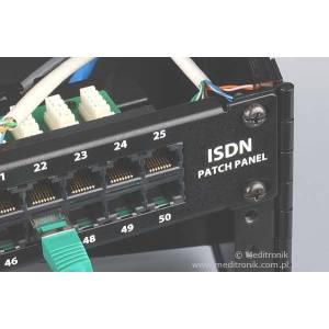 """Patch panel telefoniczny 50 portów ISDN 1U 19"""" z organizerem"""