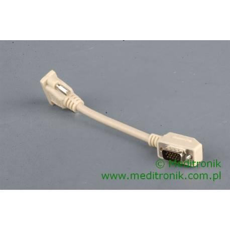 Adapter SVGA DSUB 15pin wtyk kątowy na gniazdo kabel 0,15m