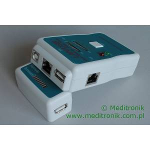 Tester diodowy RJ45/RJ12/USB/RCA/BNC