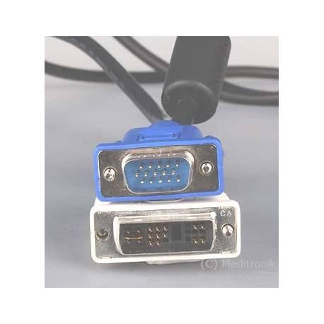 Kabel DVI-Analog wtyk na wtyk SVGA długość 3 metry