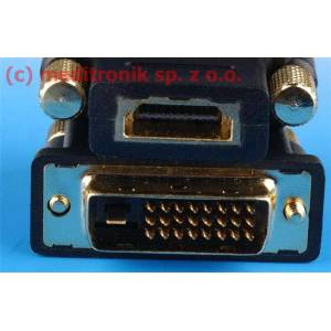 Adapter DVI-D24 wtyk na gniazdo HDMI