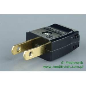 Wtyk USA na kabel płaski dwużyłowy 15A 150V