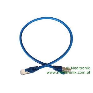 Patchcord FTP kat.6 dł.0,5m niebieski