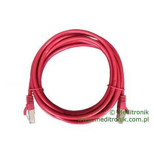 Patchcord FTP kat.6 dł.3m czerwony