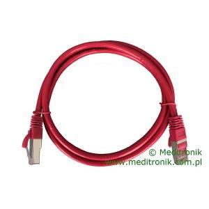 Patchcord FTP kat.6 dł.1m czerwony