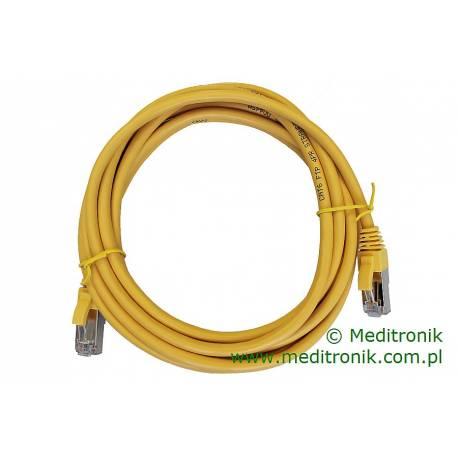 Patchcord FTP kat.6 dł.3m żółty
