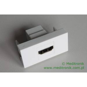Adapter Mosaic 45x22,5 moduł HDMI gniazdo na gniazdo