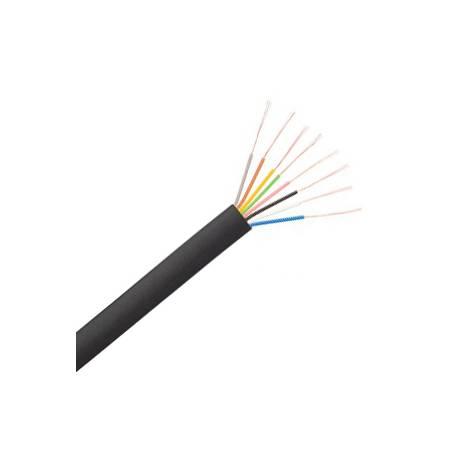 Kabel telefoniczny płaski 8-żyłowy czarny