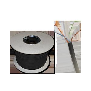 Żelowany kabel zewnętrzny UTP 4x2x23AWG kat.6 305m