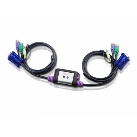 2-portowy przełącznik KVM PS/2