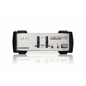 2-portowy przełącznik PS/2-USB VGA/Audio KVMP™ z menu OSD
