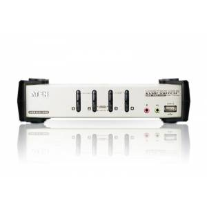4-portowy przełącznik PS/2-USB VGA/Audio KVMP™ z menu OSD