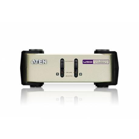 2-portowy przełącznik KVM PS/2-USB