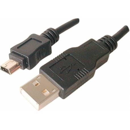 Kabel USB 2.0 długośc 1,8 metra wtyk A na wtyk mini B