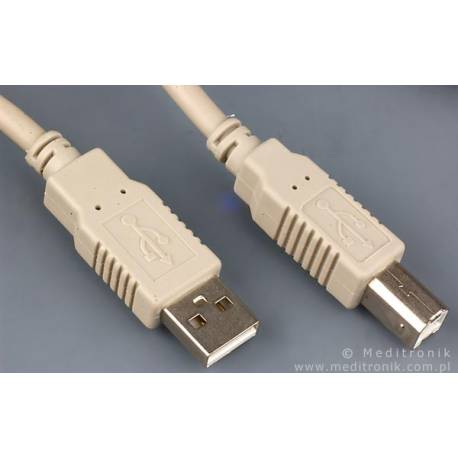 Kabel USB 2.0 wtyk A na wtyk B długość 3m