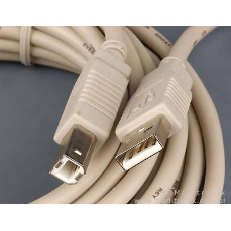 Kabel USB 2.0 wtyk A na wtyk B długość 5m